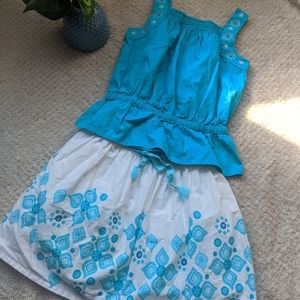 🏷️ embroidered top and skirt by Gymboree!